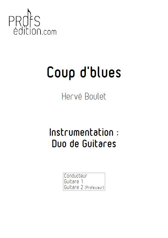 Coup d'Blues - Duo de Guitares - BOULET H. - page de garde