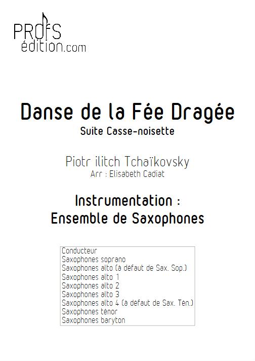 Danse de la Fée Dragée (Casse Noisette) - Ensemble de Saxophones - TCHAIKOVSKY P. I. - page de garde
