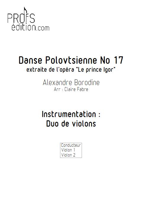 Danse Polovtsienne - Duo Violons - BORODINE A. - page de garde
