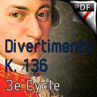 Divertimento KV 136 - Quatuor de Saxophones - MOZART W. A.
