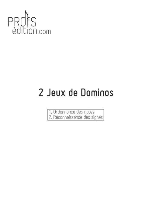 2 jeux de Dominos - Formation Musicale - LOUIS D. - page de garde