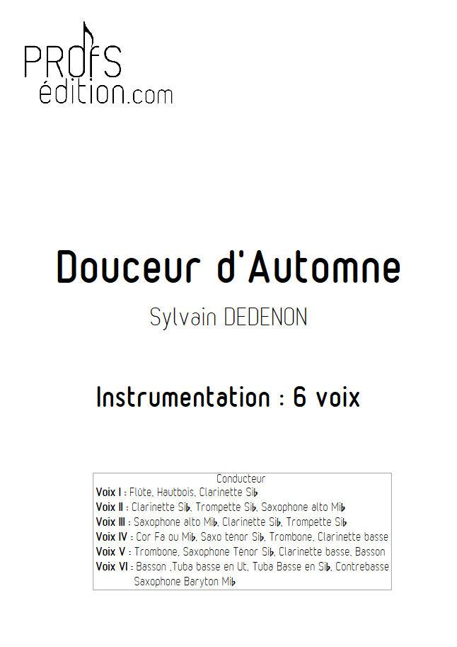 Douceur d'Automne - Ensemble Géométrie Variable - DEDENON S. - page de garde