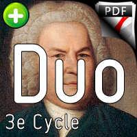 Fugue BWV 855 Clavier bien tempéré - Duo violon violoncelle - BACH J. S.