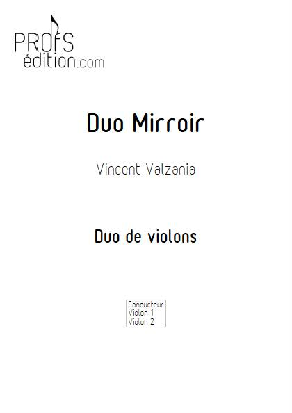 Duo Miroir - Duo de violons - VALZANIA V. - page de garde