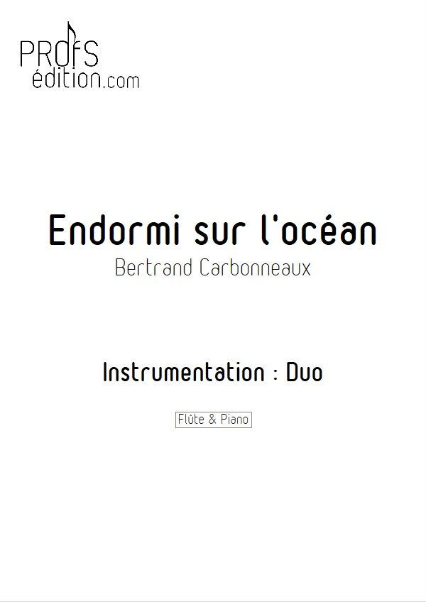 Endormi sur l'océan - Duo Flûte Piano - CARBONNEAUX B. - page de garde