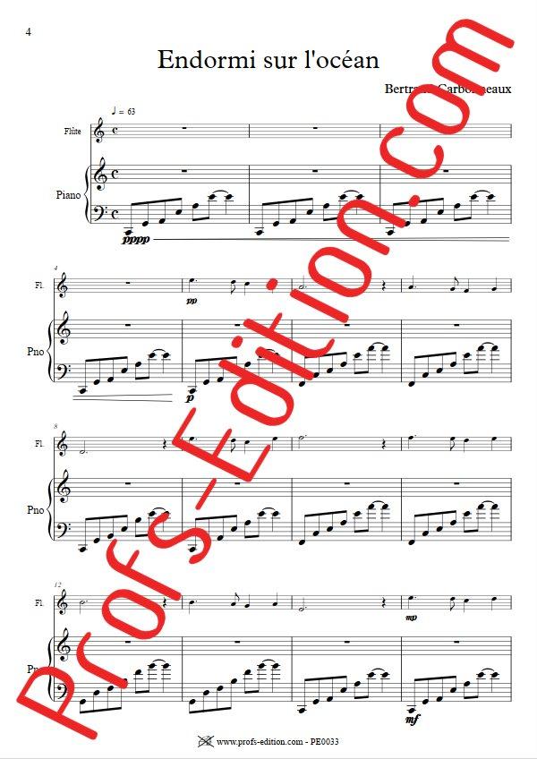 Endormi sur l'océan - Duo Flûte Piano - CARBONNEAUX B. - app.scorescoreTitle