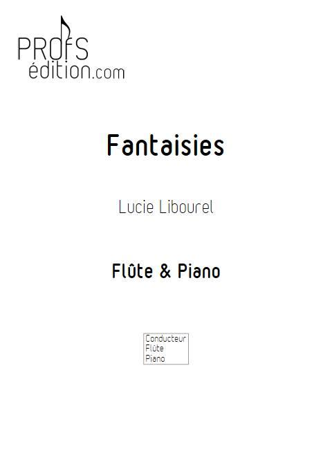 Fantaisies - Flûtes Piano - LIBOUREL L. - page de garde