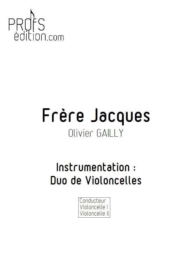 Frère Jacques - Duo Violoncelles - TRADITIONNEL - page de garde