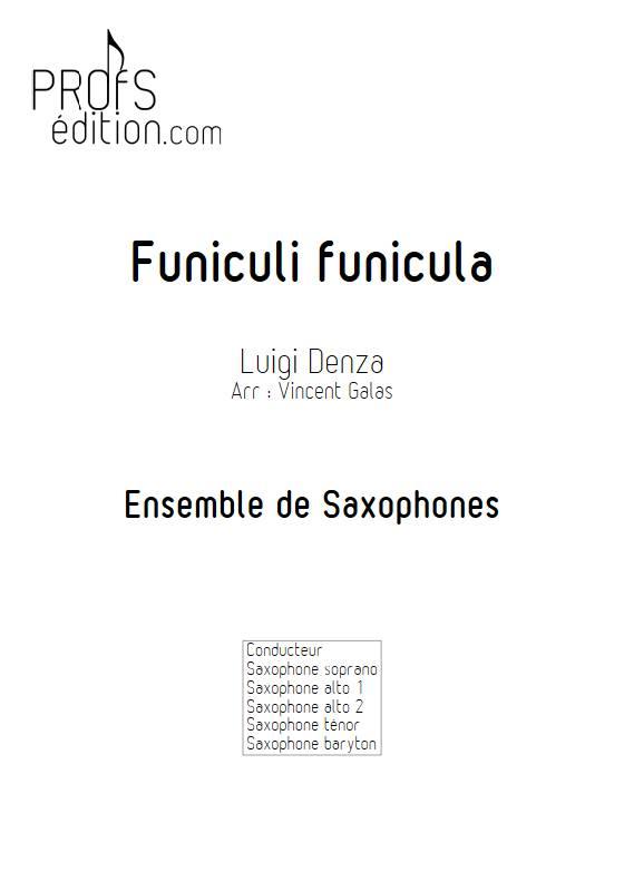 Funiculi funicula - Ensemble de Saxophones - DENZA L. - page de garde