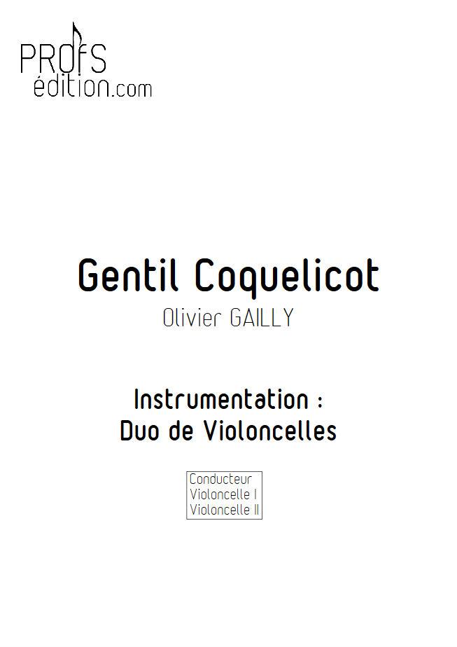 Gentil Coquelicot - Duo Violoncelles - TRADITIONNEL - page de garde