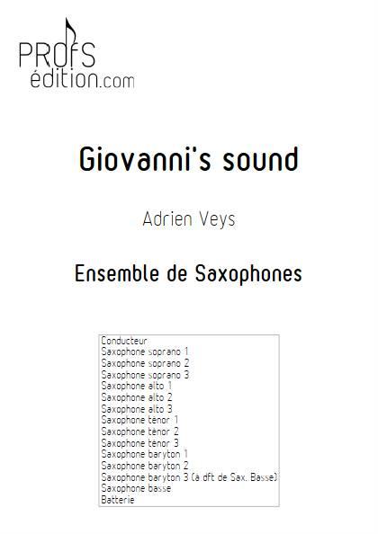 Giovanni's sound - Ensemble de Saxophones - VEYS A. - page de garde