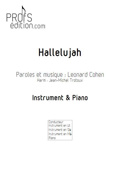 Hallelujah - Instrument & Piano - COHEN L. - page de garde