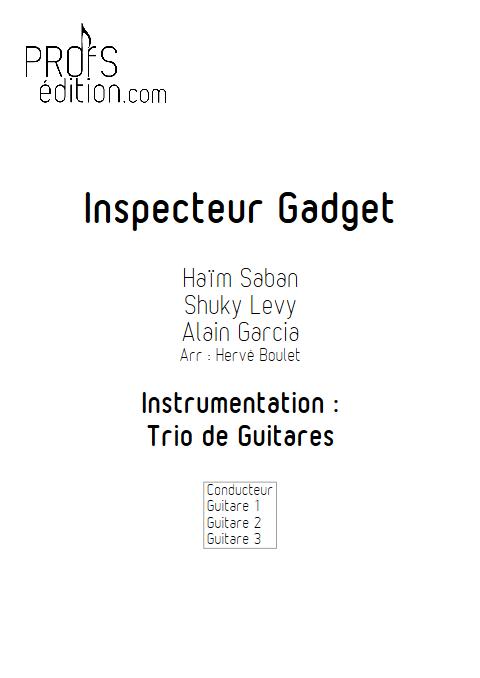 inspecteur Gadget - Trio de Guitares - SABAN H. - page de garde
