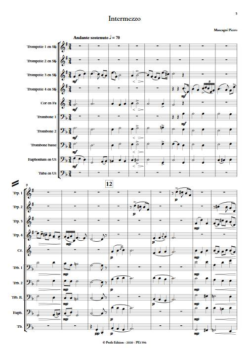 Intermezzo - Ensemble de Cuivres - MASCAGNI P. - app.scorescoreTitle