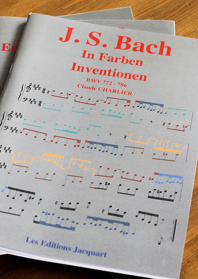 Bach In Farben Inventionen – BWV 772-786 - Analyse - CHARLIER C. - page de garde