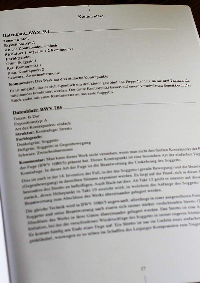 Bach In Farben Inventionen – BWV 772-786 - Analyse - CHARLIER C. - Fiche Pédagogique