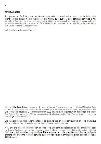 Jeu de Do - Quintette - LIBOUREL L. - Fiche Pédagogique
