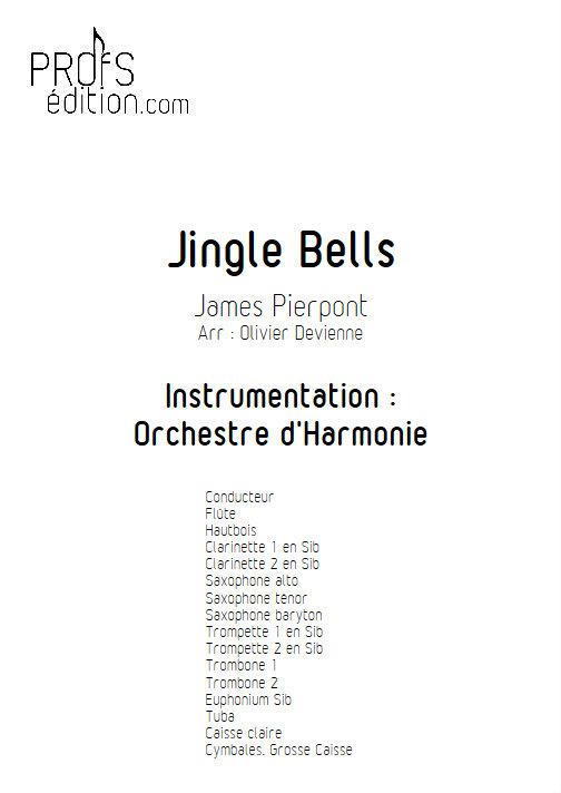 Jingle Bells - Orchestre d'Harmonie - PIERPONT J. - page de garde