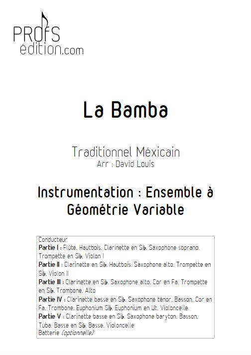 La Bamba - Ensemble à Géométrie Variable - TRAD. MEXICAIN - page de garde