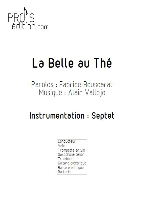 La Belle au Thé - Septet Jazz - VALLEJO A. - page de garde