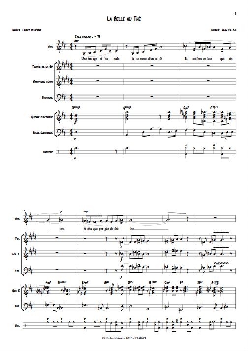 La Belle au Thé - Septet Jazz - VALLEJO A. - app.scorescoreTitle