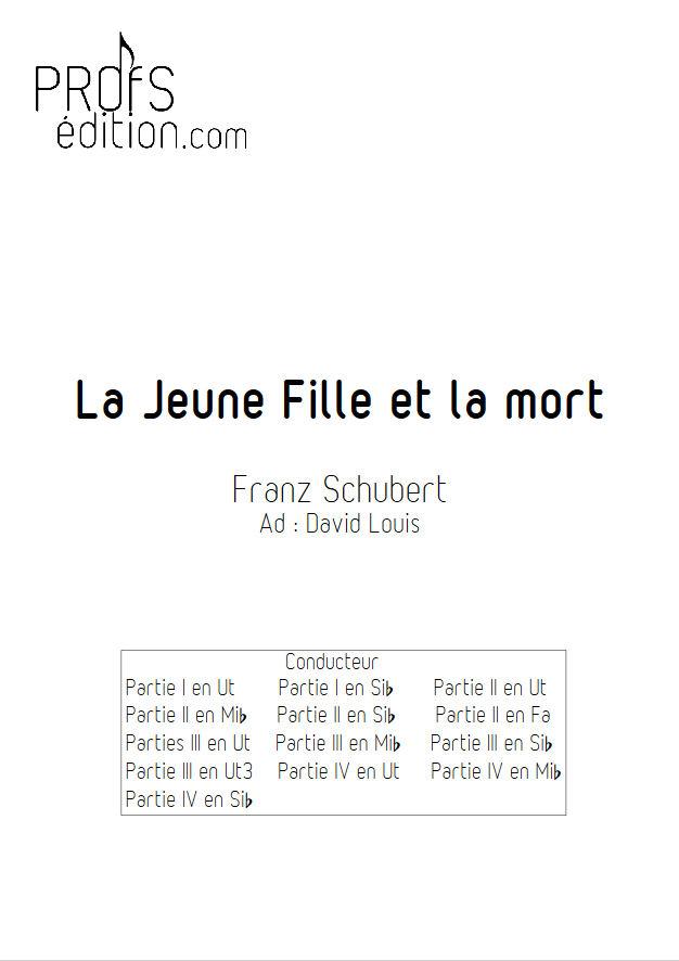 La jeune fille et la Mort - Ensemble Géométrie Variable - SCHUBERT F. - page de garde