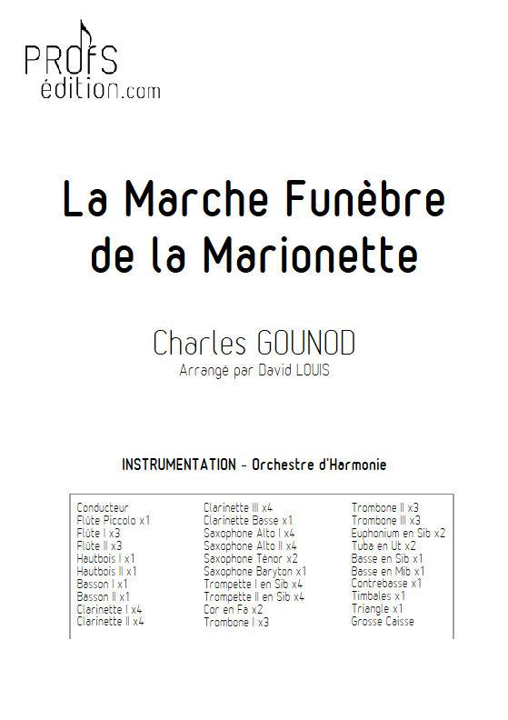 La marche funèbre de la Marionette - Orchestre Harmonie - GOUNOD C. - Fiche Pédagogique