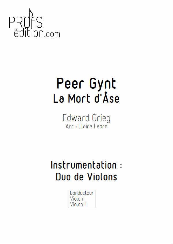 La Mort d'Ase (Peer Gynt) - Duo Cordes - GRIEG E. - page de garde