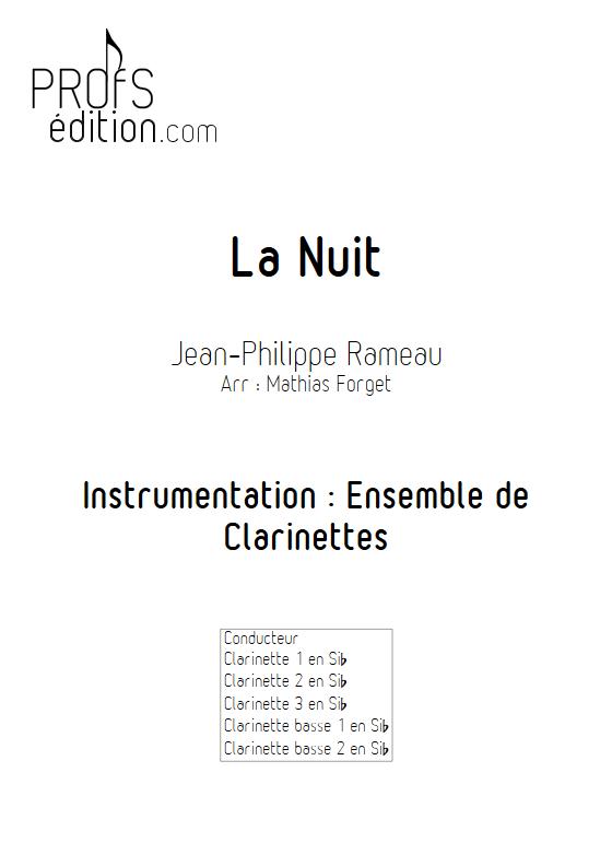 La Nuit - Ensemble de Clarinettes - RAMEAU J. P. - page de garde