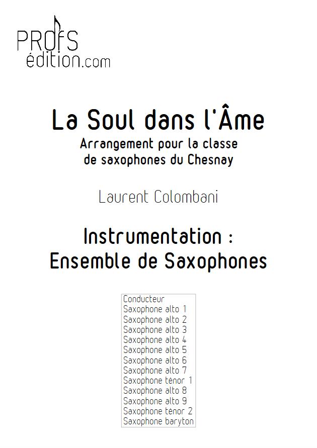 La soul dans l'âme - Ensemble de Saxophones - COLOMBANI L. - page de garde