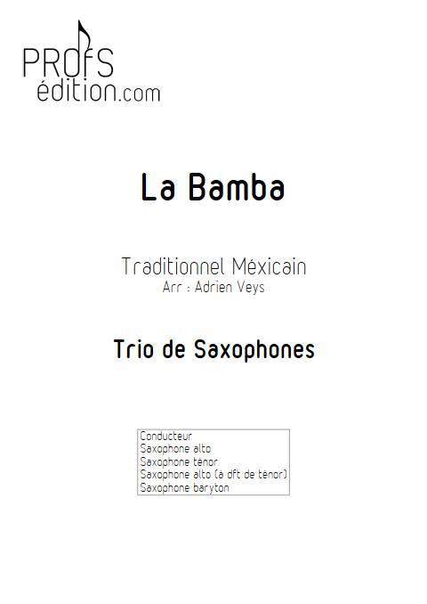 La Bamba - Trio de Saxophones - Traditionnel Mexicain - page de garde