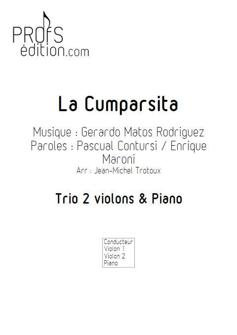 La Cumparsita - Trio 2 violons & Piano - RODRIGUEZ G. M. - page de garde