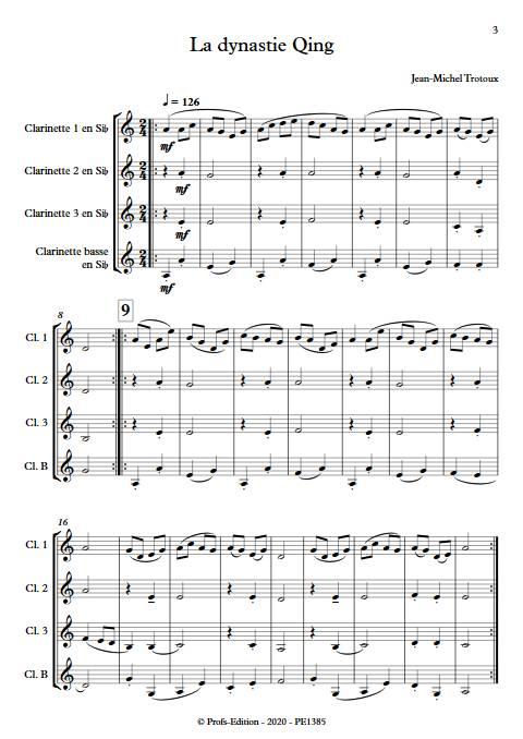 la dynastie Qing - Quatuor de Clarinettes - TROTOUX J-M. - app.scorescoreTitle