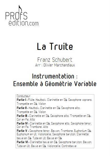 La Truite - Ensemble Variable - SCHUBERT F. - page de garde