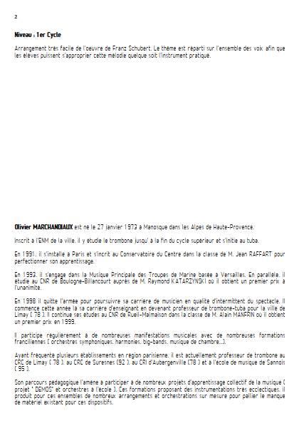 La Truite - Ensemble Variable - SCHUBERT F. - Fiche Pédagogique