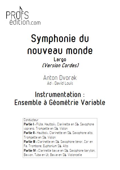 Largo Symphonie du Nouveau Monde - Ensemble Variable - DVORAK A. - page de garde