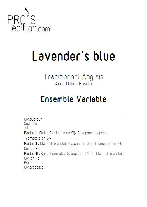 Lavender's blue - Ensemble Variable - TRADITIONNEL ANGLAIS - page de garde
