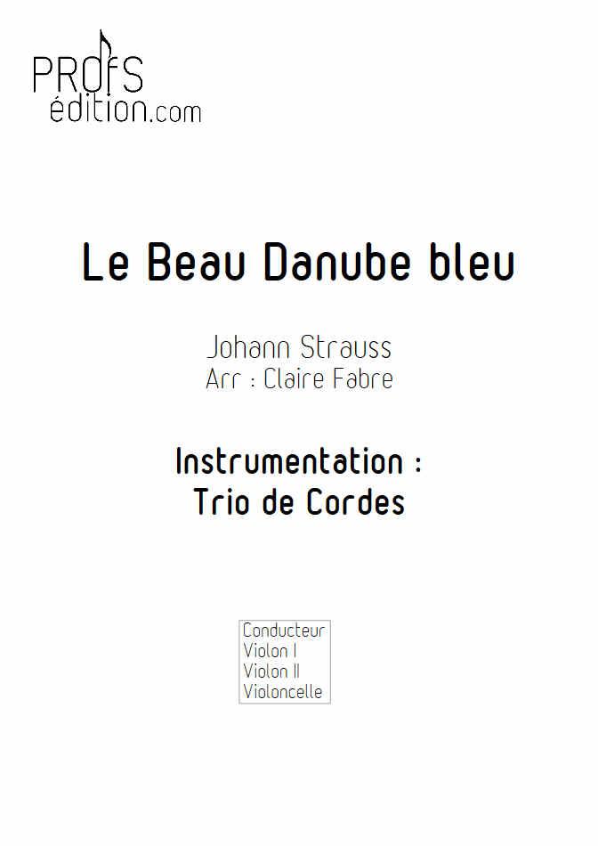 Le Beau Danube Bleu - Trio Violons Violoncelle - STRAUSS J. - page de garde