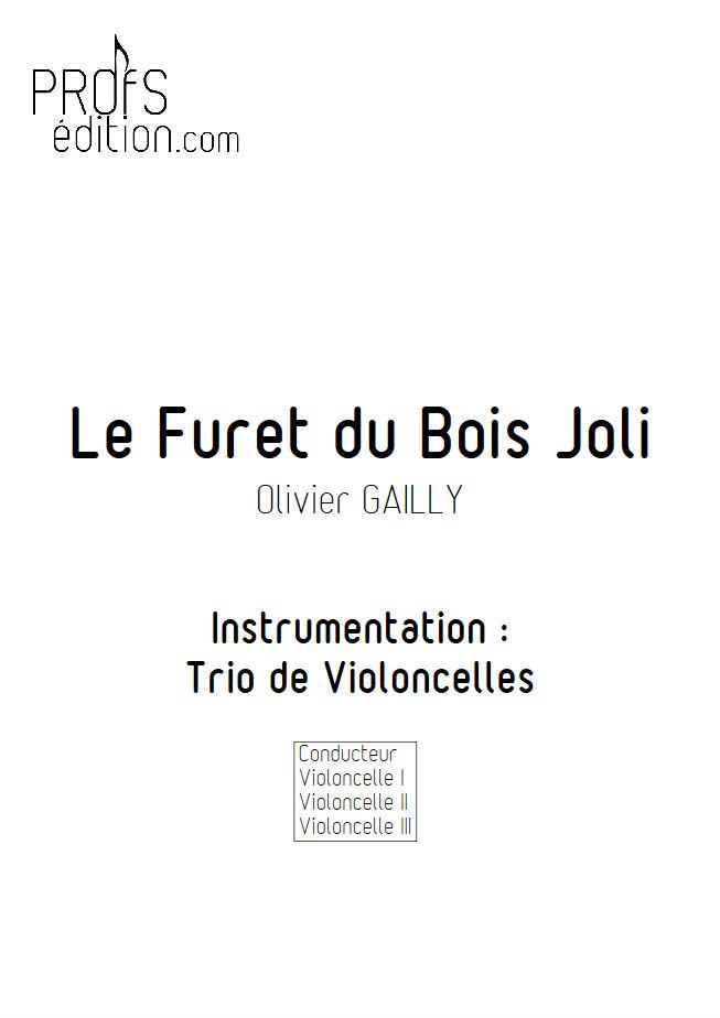 Le Furet du Bois Joli - Trio Violoncelles - TRADITIONNEL - page de garde