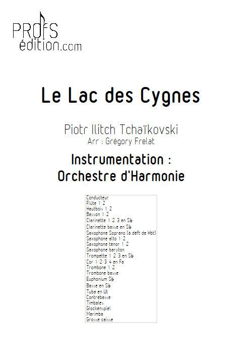 Le Lac des Cygnes - Orchestre d'Harmonie - TCHAÏKOVSKI P. I. - page de garde