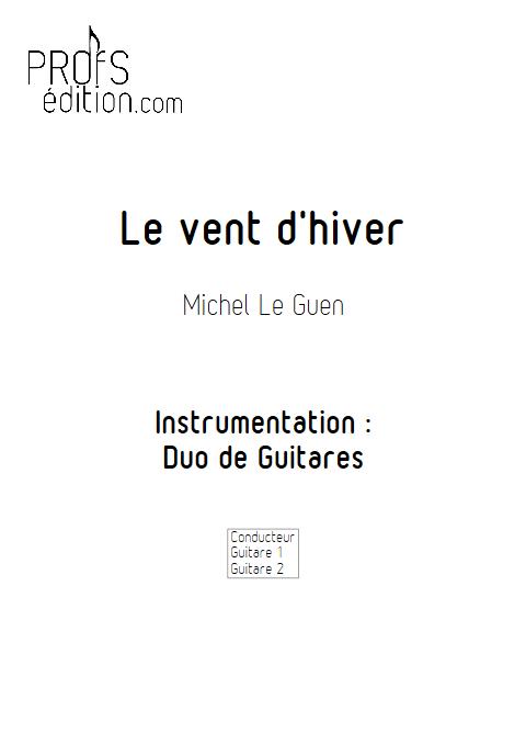 Le vent d'hiver - Duo de Guitares - LE GUEN M. - page de garde