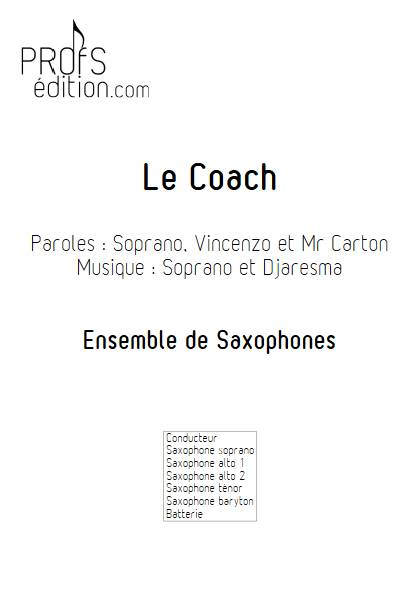 Le Coach - Ensemble de Saxophones - SOPRANO - page de garde