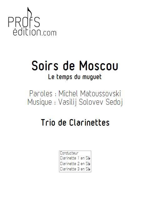 Le temps du Muguet (Soirs de Moscou) - Trio de Clarinettes - SOLOVEV SEDOJ V. - page de garde