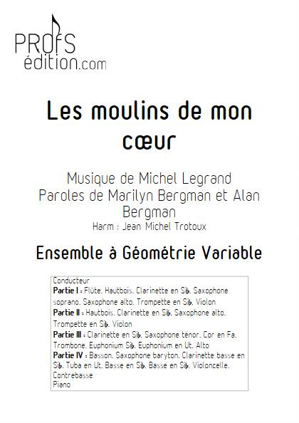 Les moulins de mon coeur - Ensemble Variable - LEGRAND M. - page de garde