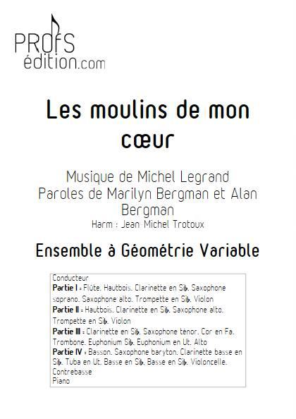 Les moulins de mon coeur - Ensemble Variable - LEGRAND M. - page de garde