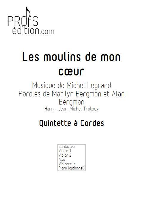 Les moulins de mon coeur - Quatuor à Cordes - LEGRAND M. - page de garde