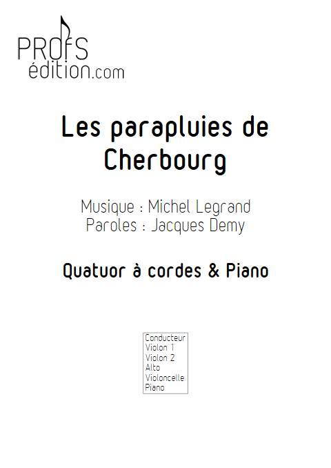 les parapluies de Cherbourg - Quintette à Cordes - LEGRAND M. - page de garde