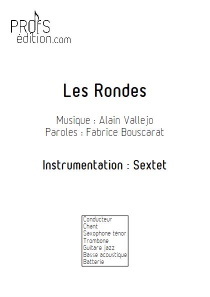 Les Rondes - Sextet Jazz - VALLEJO A. - page de garde