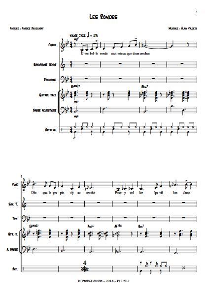 Les Rondes - Sextet Jazz - VALLEJO A. - app.scorescoreTitle