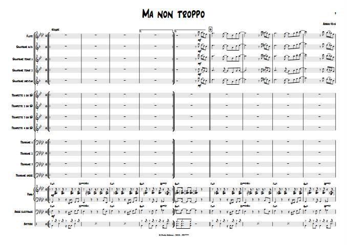 Ma non troppo - Big Band - VEYS A. - Partition
